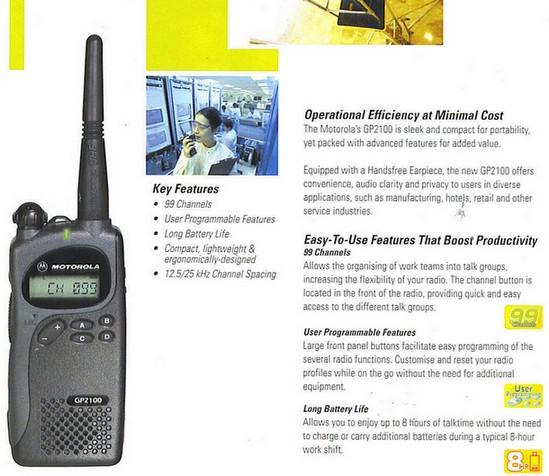 Tempat Jual HT Motorola GP-2100 Pusat Jual Handy Talky Motorola GP2100 Harga Murah